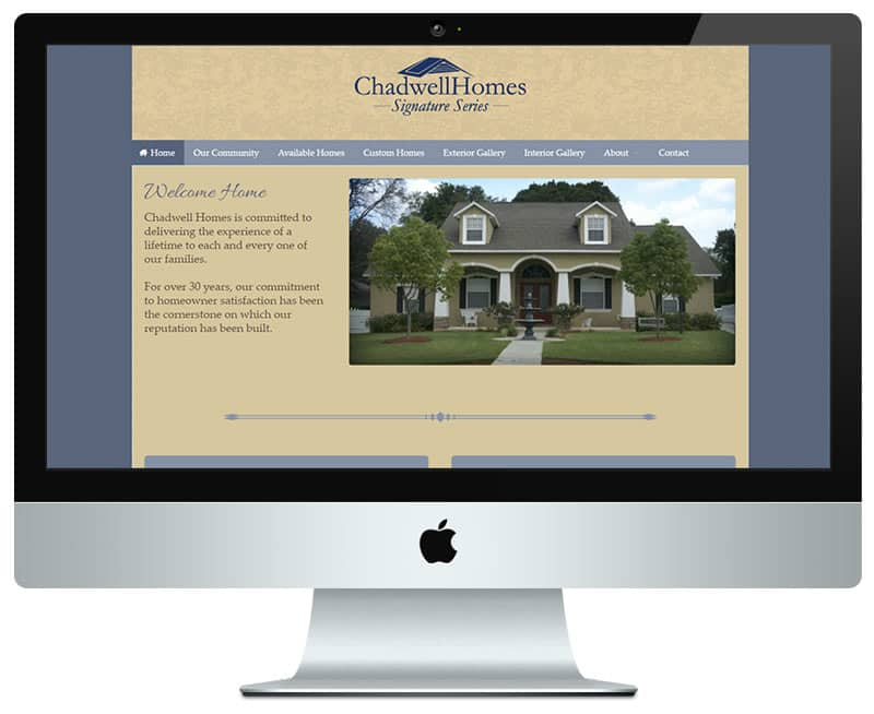 Web application chadwell homes home builder web design for Home builder websites