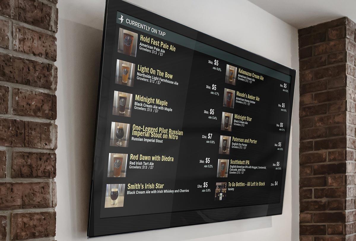Beer On Tap Menu Display