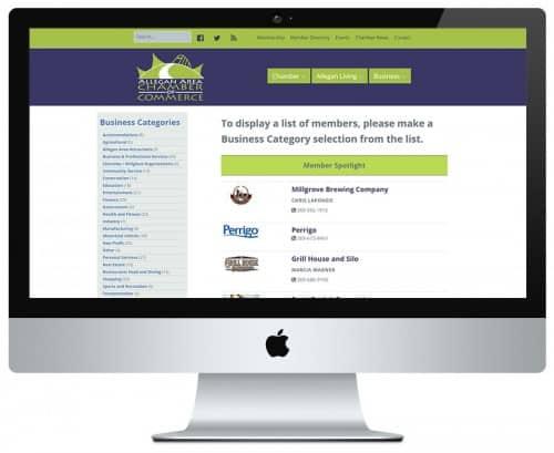 WordPress API JSON Allegan Chamber