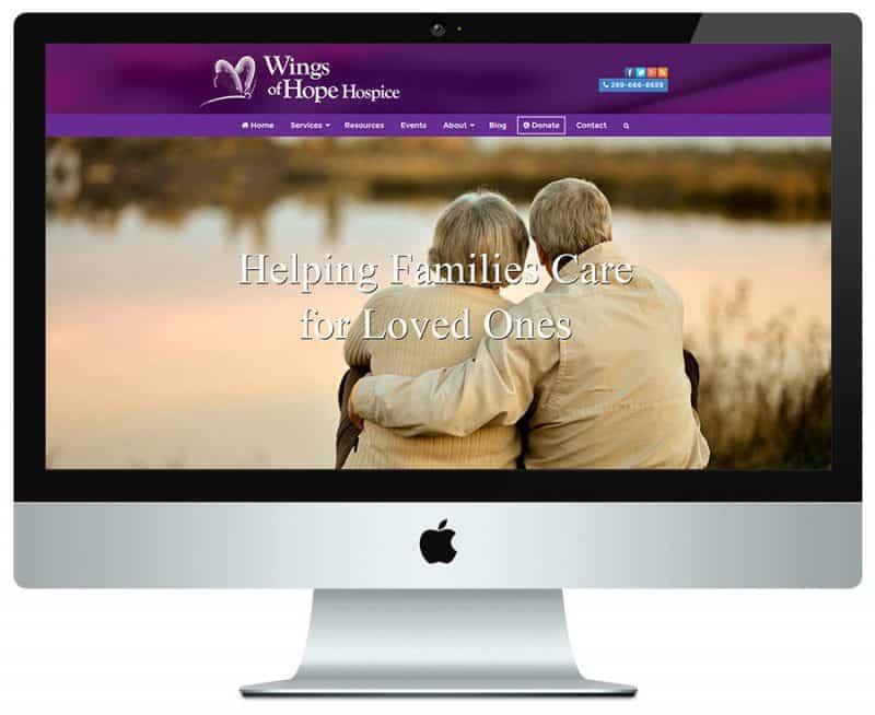 hospice web design