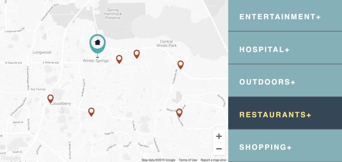 map marker restaurant locater